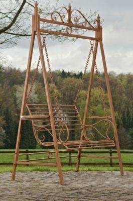 2 Sitzer / 3 Sitzer Garten Hollywoodschaukel AIMEE, Landhaus-Stil, Metall (Eisen), bis zu 3 Farben wählbar