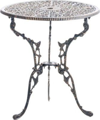 Tisch DIVARI, Gartentisch Rund Durchmesser Ø 60 Cm, Höhe 66 Cm,  Handgefertigt,