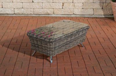 CLP Gartengarnitur VIVARI aus Polyrattan (5 Sitzplätze Premiumqualität (5 mm Rundrattan) inkl. Polstern & Kissen