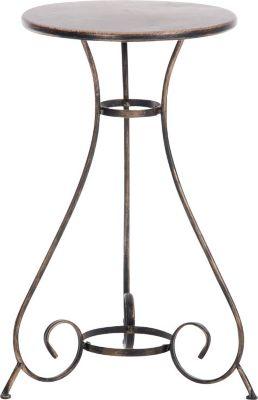 CLP Eisentisch ALAN in nostalgischem Design I Gartentisch mit geschwungenen Beinen I In verschiedenen Farben erhältlich