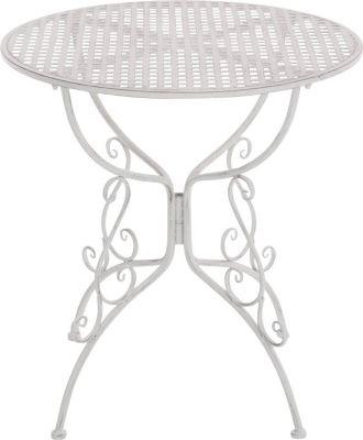 CLP Eisentisch AMANDA im Jugendstil I Robuster Gartentisch mit kunstvoll verzierten Tischbeinen I In verschiedenen Farbe