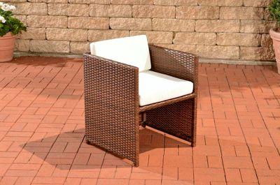 Poly-Rattan Sessel TAHITI mit Sitzkissen, Aluminium-Gestell, aus bis zu 4 Rattan-Farben wählen