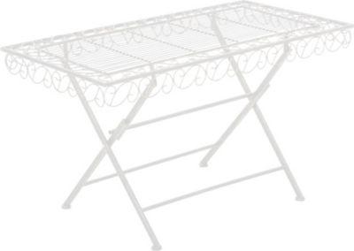 Metall-Gartentisch JOSEFA, 100 x 50 cm, Höhe ca. 55 cm, rechteckig, Landhausstil, Eisen lackiert