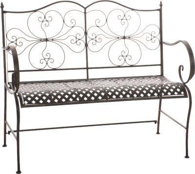 CLP 2er Garten-Bank ANNO, Landhausstil, lackiertes Eisen, ca. 110 x 50 cm - bis zu 6 Farben wählbar