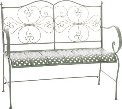 2er Garten-Bank ANNO, Landhausstil, lackiertes Eisen, ca. 110 x 50 cm - bis zu 6 Farben wählbar