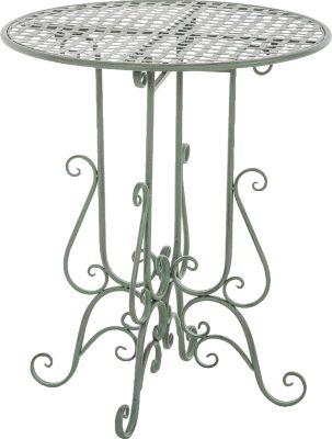 Eisentisch MATIN, rund Ø 60 cm, Höhe 70 cm, bis zu 6 Farben, Metall-Gartentisch nostalgisches antikes Design