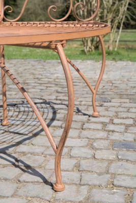 Metall Eckbank / Baumbank JETTE, lackiertes Eisen, antiker Stil, Größe ca. 140 x 60 cm, FARBWAHL