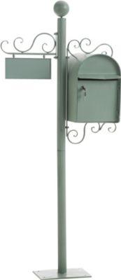Nostalgie Design Stand-Briefkasten CHARLIZE, freistehend, 150 cm, mit Namensschild, bis zu 6 FARBEN wählbar