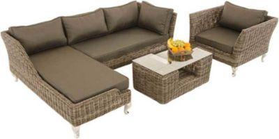 CLP 8er Set Kissenbezüge für Gartengarnitur Moss, aus 100 % Polyester, bis zu 5 Farben wählbar
