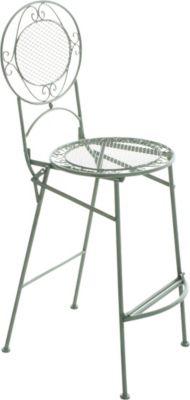Garten Outdoor Barhocker / Barstuhl NADIA, klappbar, Sitzhöhe 72 cm, romantisches Design, Eisen (Metall) handgefertigt