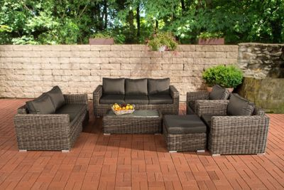 polyrattan grau preisvergleich die besten angebote. Black Bedroom Furniture Sets. Home Design Ideas