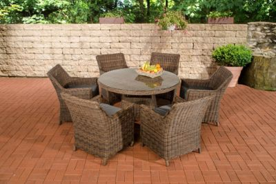 rattan polyrattan gartenmobel sitzgruppe set braun, braun-rattan-polyrattan- gartenmöbel-set online kaufen | möbel, Design ideen