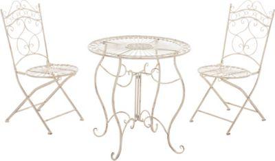 Garten Sitzgruppe INDRA, Metall (Eisen) Design Antik, Tisch Rund Ø 70 Cm,  Bis Zu 6 Farben Wählbaru20ac 139,90Anbieter: Gartenxxl.atVersand: Kostenlos
