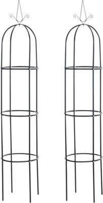 metall rankhilfe rosens ule pyramide ma e 27 x 27 cm durchmesser 40 cm h he 190 cm plus de. Black Bedroom Furniture Sets. Home Design Ideas