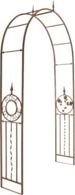 Metall-Rosenbogen COTTAGE, pulverbeschichtetes Eisen, bis zu 6 Farben wählbar, Höhe 240 cm, Breite 137 cm, Tiefe 36 cm