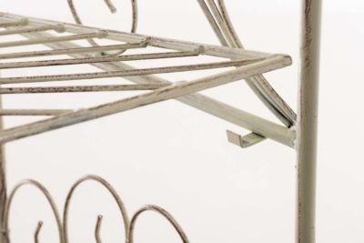CLP Standregal MIA aus Eisen I Klappregal mit 4 Ablagefächern im Landhausstil I In verschiedenen Farben erhältlich   Wohnzimmer > Regale > Einzelregale   CLP
