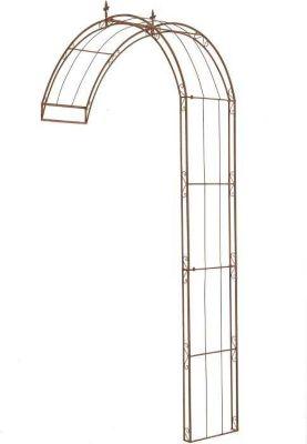 halbrunder Rosenbogen PIETRO zur Wandbefestigung, aus stabilem Eisen (aus bis zu 4 Größen & 2 Farben wählen)