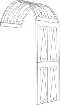 halbrunder Rosenbogen RICCARDO zur Wandbefestigung, aus bis zu 4 Größen & 4 Farben wählen, stabiles Eisen