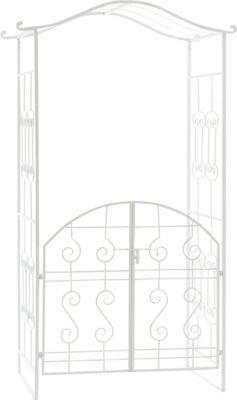 Metall-Rosenbogen ASTIA mit TOR, sehr stabil, aus bis zu 5 Farben wählen, Höhe 220 cm, Breite 110 cm, Eisen