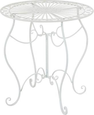 Eisen-Tisch INDRA, rund Ø 70 cm, Höhe 72 cm, Nostalgie Design Gartentisch Metall