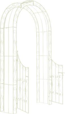 Metall-Rosenbogen SINA mit TOR, aus stabilem Eisenrohr, Durchgangshöhe 235 cm, Durchgangsbreite 108,5 cm   Garten > Pflanzen > Pflanzkästen   Eisen   CLP