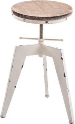 Metall-Hocker ROBOT Industrial Look, rund Durch...