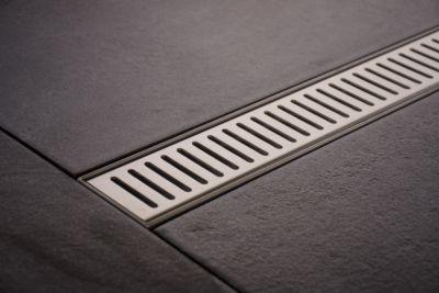 moderne edelstahl duschrinne pinara inkl siphon aus bis zu 9 gr en w hlbar kaufroboter. Black Bedroom Furniture Sets. Home Design Ideas