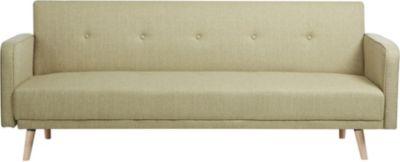 Klapp-Sofa / Schlafsofa EBBA, Stoffbezug, ca. 200 x 80 cm, stilvolle Zierknöpfe, dicke Polsterung, Couch mit Liegefunktion, FARBWAHL