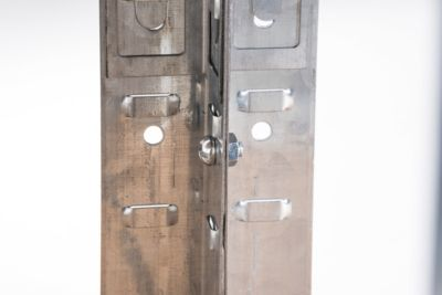 2x Schwerlastregal, Metall, verzinkt, Lagerregal Tragkraft 640 kg, 4 Böden, 160 x 80 x 40 cm
