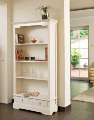 Bücherschrank PRIMUS mit 2 Schubladen und 4 Ablageflächen, 180x97 cm, FARBWAHL