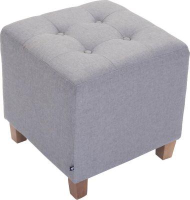 Sitz-Hocker PHARAO Stoffbezug antik-hell Sitzwürfel Fußhocker ca 45 x 45 x 45 cm