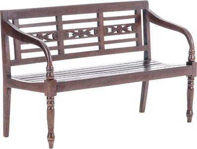 CLP 2er / 3er Holz-Bank, Mahagoni-Holz, Breite wählbar 100 / 150 cm + bis 8 Farben wählbar