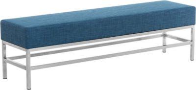 CLP 4-er Edelstahl Sitzbank TULIP, Stoff-Bezug, 4 Beine, Breite ca. 160 cm, Sitzhöhe ca. 45 cm, gepolstert