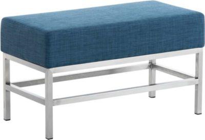 CLP 2-er Edelstahl Sitzbank TULIP, Stoff-Bezug, 4 Beine, Breite ca. 80 cm, Sitzhöhe ca. 45 cm, gepolstert