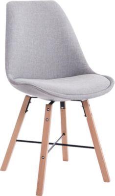 CLP Design Retrostuhl LAFFONT mit Stoffbezug und hochwertiger Polsterung Lehnstuhl mit Holzgestell In verschiedenen Farb