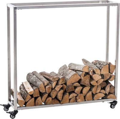 CLP Kaminholzständer HETTA, Brennholzständer, Kamin-Holzregal, Holzlager, Kamin-Holzhalter, Holzbutler,   Wohnzimmer > Kamine & Öfen > Kaminholzkörbe   CLP