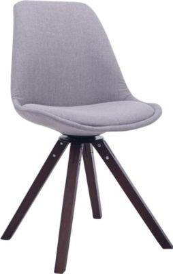 CLP Design Retro-Stuhl TROYES SQUARE mit Stoffbezug und hochwertiger Polsterung Drehbarer Stuhl mit Schalensitz und mass