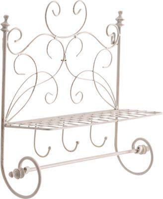 handgefertigtes Landhaus-Wandregal FLORENZ aus Eisen (bis zu 2 Größen wählbar)