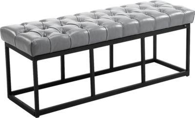 Sitzbank AMUN mit Kunstleder-Bezug, in den Breiten 100, 120, 150 x 40 cm, Sitzhöhe ca. 45 cm, gepolstert und gesteppt