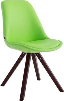 CLP Besucherstuhl LAVAL mit hochwertiger Polsterung und Kunstlederbezug Esszimmerstuhl mit bequemer Sitzschale und Holzg