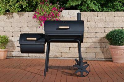 CLP BBQ Smoker Grill - Barbecue Holzkohle Grillwagen mit Stahlrädern, schwere Ausführung, 90 kg, 3,5 mm Stahl