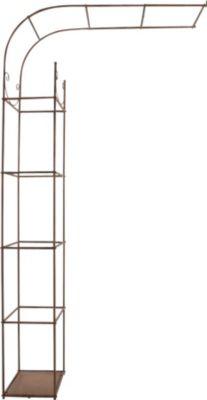 halbrunder Rosenbogen SIMON zur Wandmontage, Größe + Farbe wählbar, aus Eisen, sehr stabil & langlebig