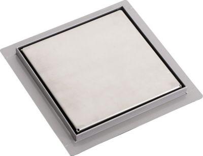 Edelstahl Dusch-Ablauf, Bodenablauf CAYMAN inkl. Siphon, quadratisch, bis zu 3 Größen wählbar