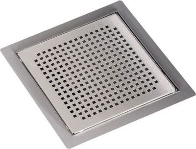 Edelstahl Bodenablauf / Duschablauf REEFER, quadratisch, inkl. Siphon, bis zu 3 Größen wählbar