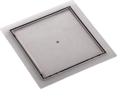 Edelstahl Duschablauf, Bodenablauf KANDARI, befliesbar, quadratisch, inkl. Siphon, 3 Größen wählbar