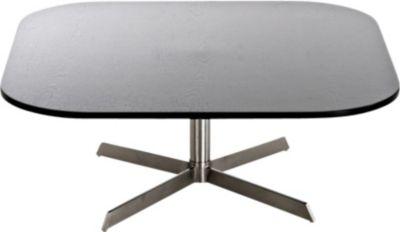 Edelstahl Couchtisch ANKARA 90 x 90 cm, Höhe 35 cm, mit Holz-Tischplatte, FARBWAHL