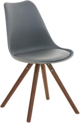 Design retro stuhl borneo holzgestell sitz kunststoff for Schalenstuhl gepolstert