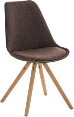 Schipkau Klettwitz Angebote Retro Stuhl PEGLEG mit Holzgestell natura und Stoffsitz, Besucherstuhl im stilvollen Design, FARBWAHL
