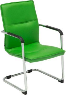 Freischwinger-Stuhl mit Armlehne SEATTLE, Besucherstuhl / Konferenzstuhl mit gepolsterter Sitzfläche, FARBWAHL