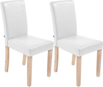 2x edler Esszimmerstuhl INA mit Holzgestell natura, Bezug aus Kunstleder, Sitzhöhe 47 cm - FARBWAHL 1713734005